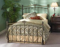 Tuscan Style Iron Beds Merrick Poster Bed by Wesley Allen #tuscandecor #bedroomfurniture