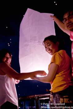 Thai sky lanterns-- whimsical, magical, and a total nod to Tangled and Drew's former home Sky Lanterns, Tangled, Whimsical, Things I Want, Reception, Concert, Parties, Party Ideas, Wedding Ideas