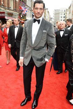 David Gandy suited and booted for the bash
