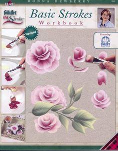 One Stroke Painting 9880 Folk Art Technique Book, Basic Strokes Workbook