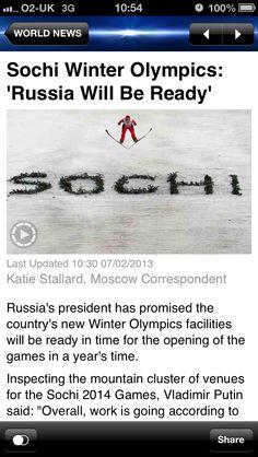 Sky news - Sochi Winter Olympics 2014!!