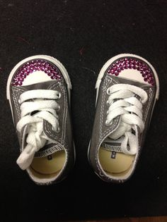 368d46e81a1f Blinged Converses for babies Size 2 by CheetahAmigas on Etsy