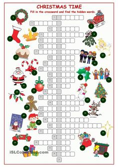Christnas Time Crossword Puzzle