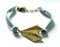 Tribal Blue and Gold Arrow Bracelet by EphemeralDesigns on Etsy, $20.00
