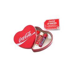 Coca Cola Lip Smackers in Heart Shaped Tin Box