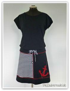 """Shirt nach dem Freebook """"Kimono Tee"""" von Maria Denmark und Rock nach dem Freebook """"Basic -Jerseyrock"""" von Frau Liebstes"""