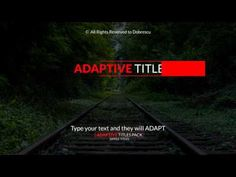 Simple & Adaptive Titles (Videohive After Effects Templates)