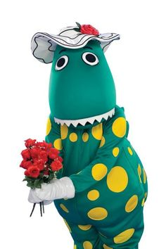 Can you believe that Greg Page ( the yellow wiggle) married the lady who played Dorothy the dinosaur? Childhood Characters, My Childhood, Disney Characters, Wag The Dog, 2nd Birthday, Birthday Parties, Stuck In The Middle, The Wiggles, 90s Nostalgia