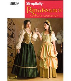 Simplicity Pattern 3809N-Misses Costumes-Sz 10-14