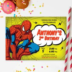 SPIDERMAN INVITATION Spiderman Printable Kids by RedHeadInvites