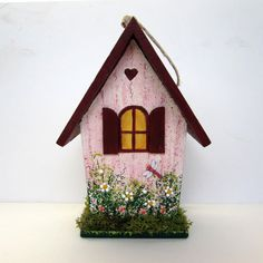 Love Nest Birdhouse with Turtles by SanquiCreations on Etsy