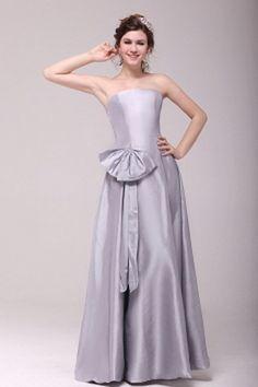 Romantic Silver Taffeta Bridesmaids Gowns - Order Link: http://www.theweddingdresses.com/romantic-silver-taffeta-bridesmaids-gowns-twdn2782.html - Embellishments: Bowknot; Length: Floor Length; Fabric: Taffeta; Waist: Natural - Price: 88.33USD