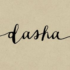 Dasha Font by Magpie Paper Works