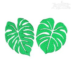Leave Embroidery Design