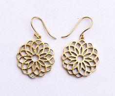 Heilige Geometrie-Ohrringe Ohrringe Blume Ohrring von armletpalace