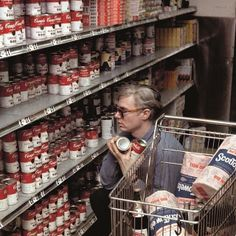 Post with 0 votes and 1342 views. Andy Warhol buying Campbell's Soup at Gristede's supermarket on Second Ave. 1964 Photo by Bob Adelman (X-post /r/OldSchoolCool) Andy Warhol, Robert Rauschenberg, Roy Lichtenstein, Jane Fonda, Art Marilyn Monroe, Richard Hamilton, Pop Art, James Rosenquist, Foto Portrait