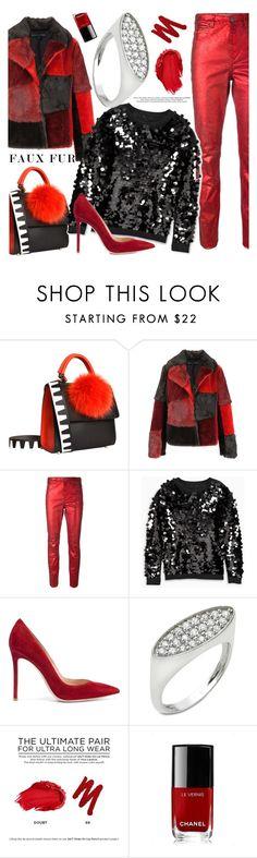 """Anastazio-faux fur"" by anastazio-kotsopoulos ❤ liked on Polyvore featuring Les Petits Joueurs, Jocelyn, Étoile Isabel Marant, Gianvito Rossi, Anastazio, Urban Decay and Chanel"