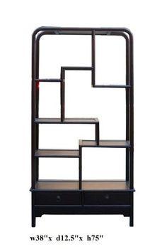 $1680 Simple Oriental Uneven Open Curio Display Cabinet Ass859 http://www.amazon.com/dp/B004UBSJ8U/ref=cm_sw_r_pi_dp_PWrWqb0N9KYQ2