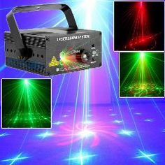 [ $69 OFF ] 18 Patterns Blue Led Laser Light And Music Lumiere Red Green Mini Laser Projector Stage Disco Lighting Music Equipment