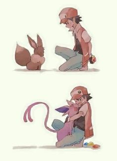 He let Eevee choose. :)