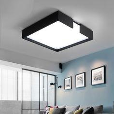 New Arrival Minimalism Modern LED Ceiling Lights Creative Rectangular Luminaria ceiling Lamp Bedroom living room Kitchen Foyer home office idea