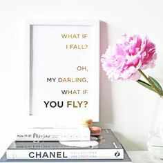 Sale Inspirational Gold Foil Print Office Decor by SkandiDesign Gangster Rap, What If You Fly, Triangle Art, Gold Wall Art, Gold Foil Print, Foil Prints, Typography Prints, Simple Art, I Fall