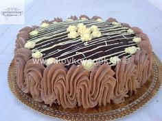 Greek Desserts, Party Desserts, Greek Recipes, Food Network Recipes, Cooking Recipes, The Kitchen Food Network, Cake Recipes, Dessert Recipes, Mirror Glaze Cake