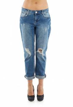 Blugi Boyfriend SuperJeans of Sweden - Vintage Wash Ripped Jeans, Skinny Jeans, Sweden, Boyfriend, Pants, Beauty, Vintage, Fashion, Tattered Jeans
