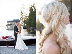 Classic tux, gown, veil and hair