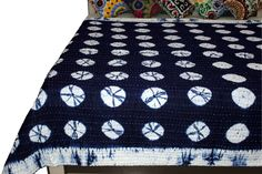 Tie Dye Bedding, Cotton Bedding, Cotton Quilts, Twin Quilt Size, Tv Wall Design, Kantha Stitch, Awesome Bedrooms, Kantha Quilt, Shibori