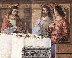 ❤ - DOMENICO GHIRLANDAIO (1449 - 1494) - Last Supper, detail - 1486. Fresco | San Marco, Florence.