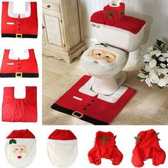 Cheap christmas mobile decorations, Buy Quality christmas decorations solar directly from China decorate christmas party Suppliers: Hot Fancy Santa Toilet Seat Cover and Rug Bathroom Set Contour Rug Christmas Decorations For Natal Navidad Decoracion Christmas Items, Christmas Home, Christmas Ornaments, Merry Christmas, Cheap Christmas, Christmas Chair, Christmas Deals, Christmas Morning, Christmas Snowman