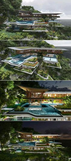 Xálima is a dream house located on a distant island between the mountain and the sea and surrounded by imposing nature. The luxury house was designed by Martín Ferrero Arquitectura Modern Architecture House, Modern House Design, Amazing Architecture, Interior Architecture, Future House, Design Exterior, Luxury Homes Dream Houses, Modern Mansion, Dream House Exterior