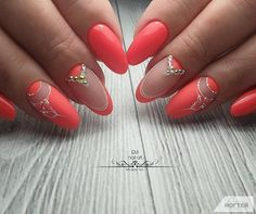 """Fantastic """"acrylic nail art designs rhinestones"""" information is offered on our web pages. Check it out and you will not be sorry you did. Acrylic Nails Natural, Orange Acrylic Nails, Summer Acrylic Nails, Orange Nails, Acrylic Nail Art, Spring Nails, Summer Nails, Nagellack Design, Nagellack Trends"""