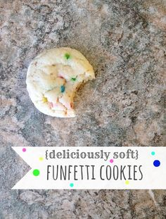He & Me: {Deliciously Soft} Funfetti Cookies