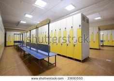 Modern locker room - stock photo