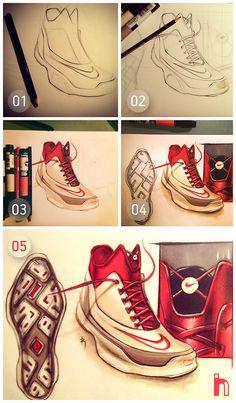 Nike Rendering by Roshan Hakkim of SketchBug