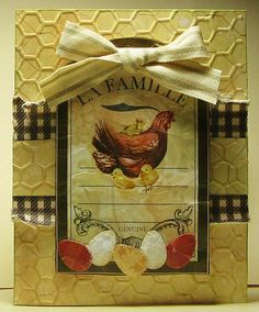 Peggy's fabulous creation. Love the country feel. Scrapbook.com