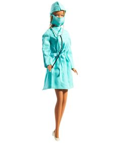 1973: SURGEON  Decades before Grey's Anatomy and ER, Barbie is booking surgeries and running the operating room in chic scrubs. Sanitized for surgery, she's ready and willing to save lives in style.