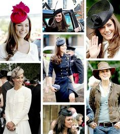 "We were thrilled that Kate Middleton was named ""Hat Person of the Year."" She has worn so many different styles of hats and looks lovely in each one. Kate Middleton, Fascinator Hats, Fascinators, Pillbox Hat, Headpiece, Princess Hat, Wearing A Hat, Love Hat, Girl With Hat"