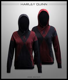 harley quinn hooded sweatshirt
