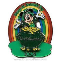 Mickey Pot Of Gold+Rainbow Happy St Patrick's Day 2008 Le 2000 Disney Pin FOR SALE • CAD 22.95 • See Photos! Money Back Guarantee. MICKEY POT OF GOLD+RAINBOW HAPPY ST PATRICK'S DAY 2008 LE 2000 DISNEY PIN This Pin features Mickey Mouse coming out of a pot filled with gold coins behind Mickey is 141541765658