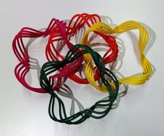 More twisted colorfull bangles 4x4, Bangles, Shapes, Bracelets, Bracelet, Cuff Bracelets, Arm Bracelets, Anklets