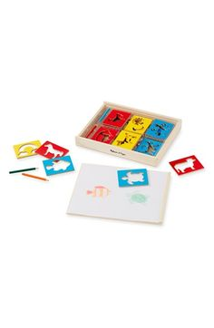 Free shipping and returns on Melissa & Doug Wooden Stencil Box at Nordstrom.com. This expansive set of wooden stencils and colored pencils in an array of rainbow hueswill let kids have endless fun expressing their creativity.