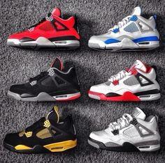 Jordan 4 Toro Bravo  Jordan 4 Millitary Blue  Jordan 4 Bred  Jordan 4 Fire Red  Jordan 4 Thunder  Jordan 4 white Cement