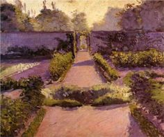 The Kitchen Garden, Yerres - Gustave Caillebotte, c.1877
