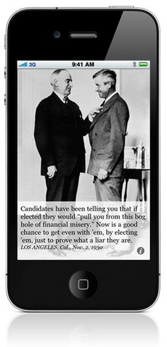 Bog hole of financial misery! Will Rogers Quote iPhone app