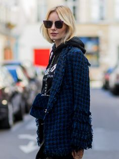 5 Ways Fashion Girls Are Wearing Hoodies Right Now via @WhoWhatWear