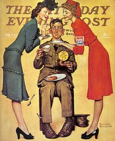 1942 - Willie Gillis at the USO - by Norman Rockwell