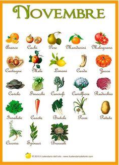 frutta e verdura di novembre